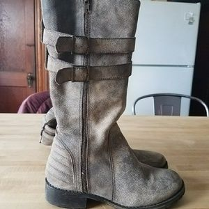 Matisse Leather Combat Boots
